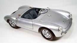 Porsche 550 spyder silver medium