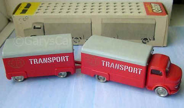 Mercedes Van and Trailer | Model Trucks