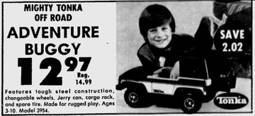 Mighty Tonka Off Road Adventure Buggy | Print Ads