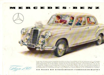 Mercedes-Benz - Typ 180 - Datenblatt | Posters and Prints | Hans Liska - Mercedes Benz - Typ 180
