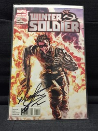 Winter Soldier No. 4 | Comics & Graphic Novels | Signed by actor Sebastian Stan, who played the Winter Soldier in Captain America: The Winter Soldier.