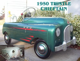 1950 Thistle Chieftain  | Pedal Cars and Other Ride-On Vehicles | Caption Text