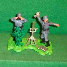 German Mortar Set Diorama | Figures and Toy Soldiers