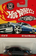Hot wheels hot wheels modern classics%252c 40th anniversary 92 ford mustang model cars a1d5939f 8272 4c66 b128 2405a5451f61 medium