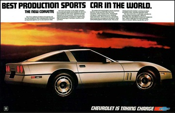1984 Corvette Ad The Best Production Sports Car In The World
