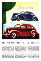 Presenting The Two New Ford V-8 Cars For 1938 | Print Ads