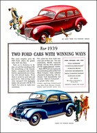 For 1939 Two Ford Cars With Winning Ways | Print Ads