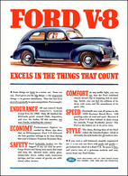 Ford V-8 Excels In The Things That Count | Print Ads