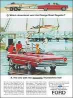 Q. Which Dreamboat Won The Orange Bowl Regatta? A. The One With The Seagoing Thunderbird V-8! | Print Ads