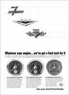 Whatever Your Engine ... We've Got A FORD Tach For It | Print Ads