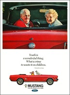 1966 ford mustang ad %2522youth is a wonderful thing   what a crime it is to waste it on children.%2522 print ads 156799cd 4020 4981 b789 8a30cc2ae226 medium