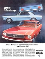 If You Thought We Couldn't Improve On A Winner - Try Mustang '66! | Print Ads