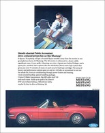 Should A Harried Public Accountant Drive A Relaxed Private Fun Car Like Mustang? | Print Ads