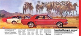 One Million Mustangs In Two Years! | Print Ads
