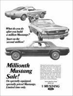 What Do You Do After You Build A Million Mustangs? Start On The Second Million! | Print Ads