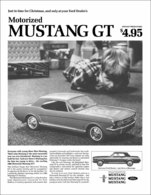 Just In Time For Christmas, And Only At Your Ford Dealer's Motorized Mustang GT | Print Ads