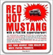 Red Hot Mustang With A Paxton Supercharger! | Print Ads