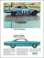 The 427 Fairlane ... Is Also Available Without Numbers. | Print Ads