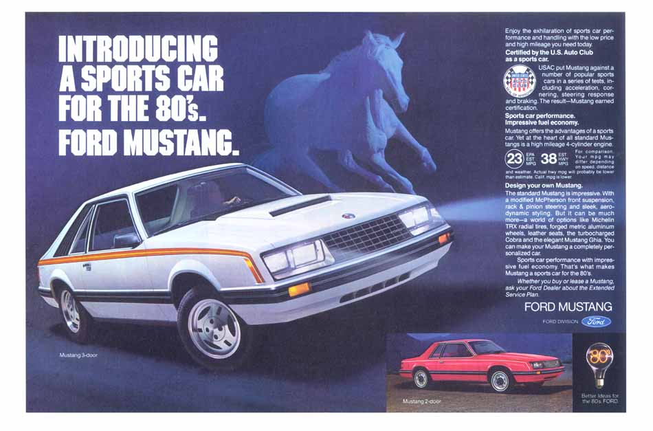 Introducing A Sports Car For The 3980s Ford Mustang