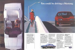 You Could Be Driving A Mustang.   Print Ads
