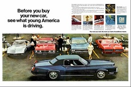 "1968 GM Performance Car Ad ""Before You Buy See What Young America is Driving"" 