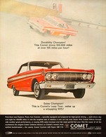 Durability Champion! This Comet Drove 100,000 Miles At Over 105 Miles Per Hour!   Print Ads