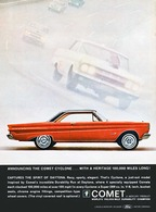 Announcing The Comet Cyclone ... With A Heritage 100,000 Miles Long!   Print Ads