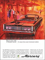Mercury Enters 1965 In The Grand Manner   Print Ads