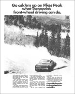 "1967 Toronado Ad ""Pike's Peak Class Winner""   Print Ads"