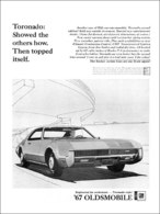 """1967 Toronado Ad """"Showed the Others How""""   Print Ads"""