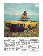 """1968 Oldsmobile 442 - """"Here's What's Behind the Reputation""""   Print Ads"""