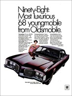 """""""Most Luxurious 1968 Youngmobile From Oldsmobile 98""""   Print Ads"""