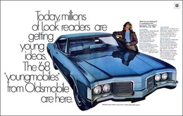 """1968 Delta Custom Ad """"The Youngmobiles are here""""   Print Ads"""