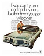 """1968 Delmont 88: """"If You Cab Try One and Not Buy One, Brother, have you got willpower.""""   Print Ads"""