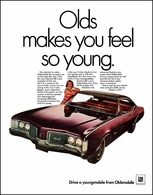 """1968 Delmont: """"Olds Makes You Feel So Young""""   Print Ads"""
