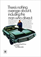 """1968 Toronado Ad """"There's Nothing Average About It""""   Print Ads"""