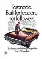 "1968 Toronado Ad ""Built for Leaders Not Followers""   Print Ads"