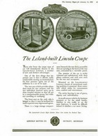 The Leland-Built Lincoln Coupe | Print Ads