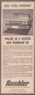 Police In Three States Use Rambler V-8 | Print Ads