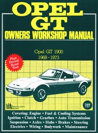 Opel GT AB Workshop Manual | Books