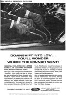 More Proof Of Engineering Excellence Downshift Into Low ... You'll Wonder Where The Crunch Went! | Print Ads