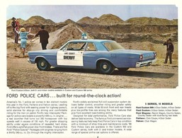 FORD Police Cars ... Built For Round-The-Clock Action! | Print Ads