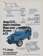 Jeep CJ-7 ... More Reasons Than Ever To Own A CJ | Print Ads