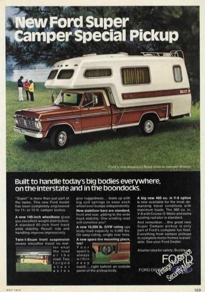 New Ford Super Camper Special Pickup Print Ads Hobbydb