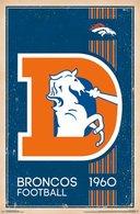 Denver Broncos Retro Logo | Posters & Prints