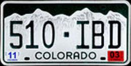 Colorado Passenger License Plate | License Plates