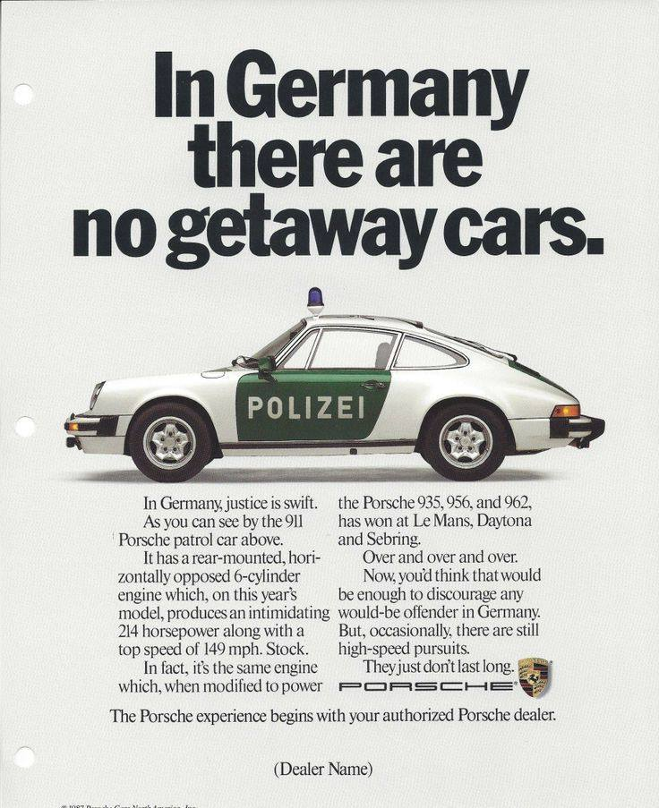 In Germany There Are No Getaway Cars Print Ads Hobbydb