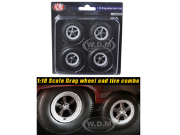 Drag Wheels and Tires Set of 4 | Model Spare Parts