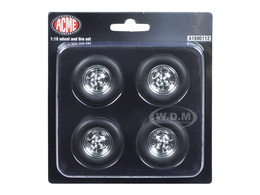 Chevrolet C10 Pickup Truck Mag Wheels and Tires Set of 4  | Model Spare Parts