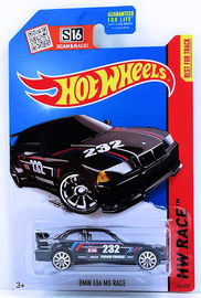 BMW E36 M3 Race | Model Racing Cars | HW 2015 - Collector # 146/250 - HW Race / World Race - BMW E36 M3 Race - Black - USA Card